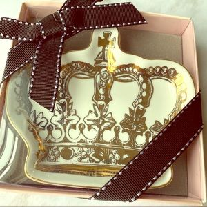 JUICY COUTURE CROWN TRINKET TRAY IN BOX